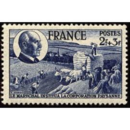France num Yvert 607 ** MNH Moisson ble Année 1944