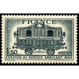 France num Yvert 609 ** MNH Wagon Année 1944