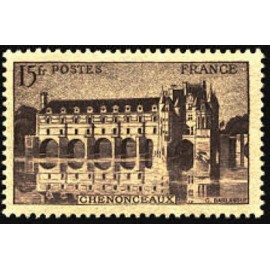 France num Yvert 610 ** MNH Château chenonceaux Année 1944