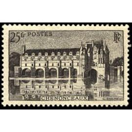 France num Yvert 611 ** MNH Château chenonceaux Année 1944