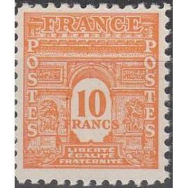 France num Yvert 629 ** MNH Arc de triomphe Année 1944
