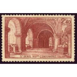France num Yvert 661 ** MNH Basilique St Denis Année 1944