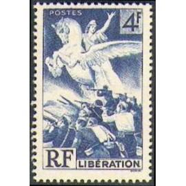 France num Yvert 669 ** MNH Liberation Année 1945