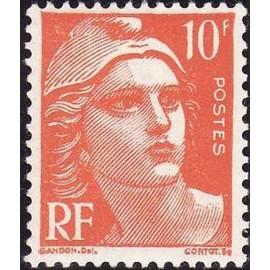 France num Yvert 722 ** MNH Marianne de Gandon Année 1945