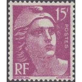 France num Yvert 724 ** MNH Marianne de Gandon Année 1945