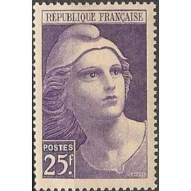 France num Yvert 731 ** MNH Marianne de Gandon Année 1945