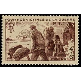 France num Yvert 737 ** MNH Refugiés Année 1945