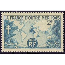 France num Yvert 741 ** MNH Carte Année 1945