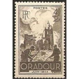 France num Yvert 742 ** MNH Oradour Année 1945