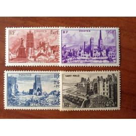 France num Yvert 744-747 ** MNH Monuments et Sites Année 1945