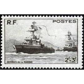 France num Yvert 752 ** MNH Bateau Marine Année 1946