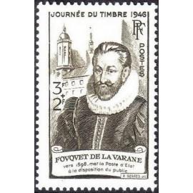 France num Yvert 754 ** MNH Fouquet Année 1946