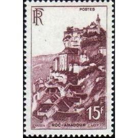France num Yvert 763 ** MNH Rocamadour Année 1946