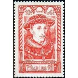 France num Yvert 770 ** MNH Charles VII Roi Année 1946
