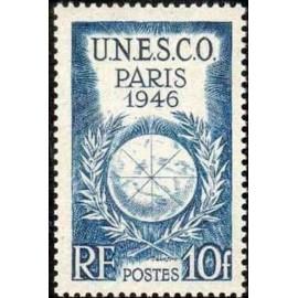France num Yvert 771 ** MNH UNESCO Année 1946