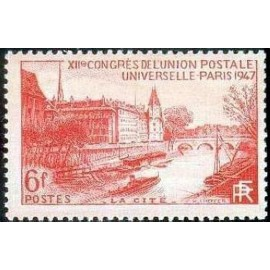 France num Yvert 782 ** MNH Paris La Cité Année 1947