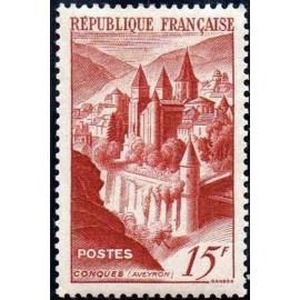 France num Yvert 792 ** MNH Conques Année 1947