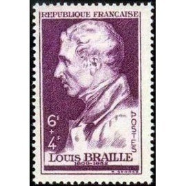 France num Yvert 793 ** MNH Louis braille Aveugle Année 1948