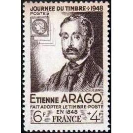 France num Yvert 794 ** MNH Journee du timbre Arago Année 1948