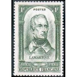 France num Yvert 795 ** MNH Lamartine 1848 Année 1948