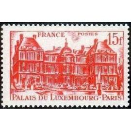 France num Yvert 804 ** MNH Paris Palais Luxembourg Année 1948