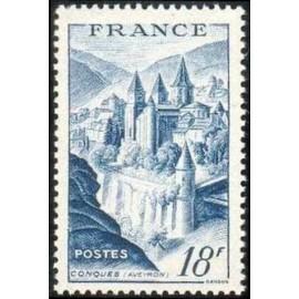 France num Yvert 805 ** MNH Conques Bleu Année 1948
