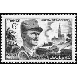 France num Yvert 815 ** MNH General LECLERC Année 1948