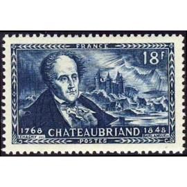 France num Yvert 816 ** MNH Chateaubriand château  Année 1948