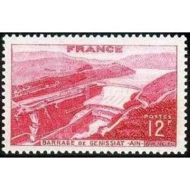 France num Yvert 817 ** MNH barrage Genissiat Ain Année 1948