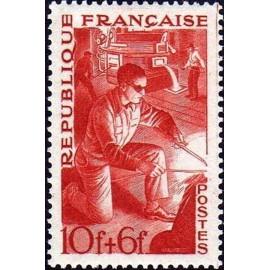 France num Yvert 826 ** MNH metallurgie soudeur Année 1949