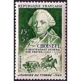 France num Yvert 828 ** MNH journee du timbre Année 1949