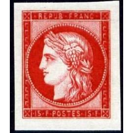 France num Yvert 830 ** MNH Cérès  1849 Année 1949