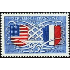 France num Yvert 840 ** MNH USA France Année 1949