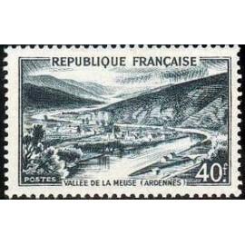 France num Yvert 842A ** MNH Vallee meuse Année 1949
