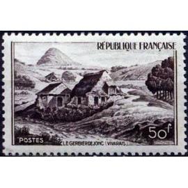 France num Yvert 843 ** MNH gerbier d Joncs Ardeche Année 1949
