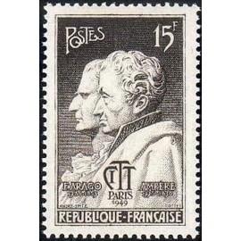 France num Yvert 845 ** MNH Arago et Ampere Année 1949