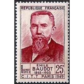 France num Yvert 846 ** MNH Emile Baudot Année 1949
