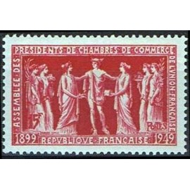 France num Yvert 849 ** MNH Chambre de Commerce Année 1949