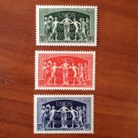 France num Yvert 850-852 ** MNH UPU Année 1949