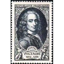 France num Yvert 854 ** MNH Voltaire Année 1949