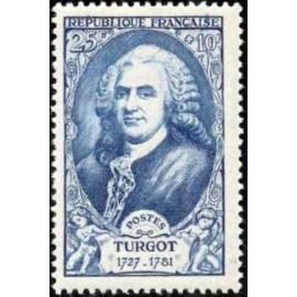 France num Yvert 858 ** MNH Turgot Année 1949
