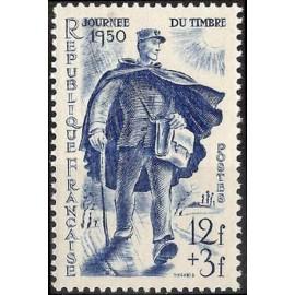 France num Yvert 863 ** MNH Journée du Timbre Facteur Année 1950