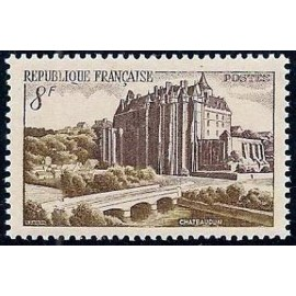 France num Yvert 873 ** MNH Château de Chateaudun Année 1950