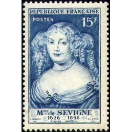 France num Yvert 874 ** MNH Madame Sevigné Nanteuil Année 1950