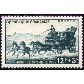 France num Yvert 919 ** MNH Journée du timbre Année 1952