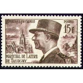 France num Yvert 920 ** MNH De Lattre de Tassigny Année 1952