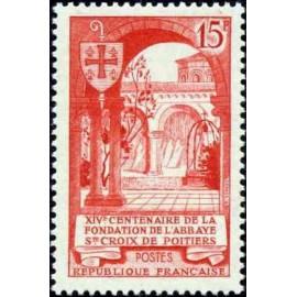 France num Yvert 926 ** MNH Poitiers Année 1952