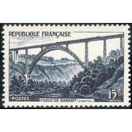 France num Yvert 928 ** MNH Viaduc de Garabit Eiffel Année 1952