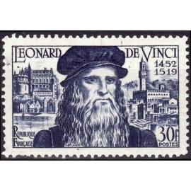 France num Yvert 929 ** MNH Leonard de Vinci Année 1952