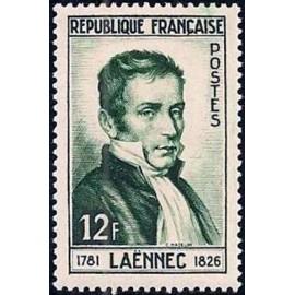 France num Yvert 936 ** MNH Laennec medecine Année 1952